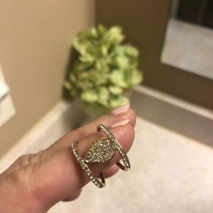 Charming Charlie's Gold and CZ ring